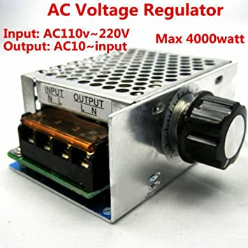 4000W AC110V to 220V  Voltage Regulator Dimmer Adjustable Voltage Regulator