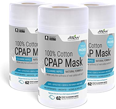 Toallitas limpiadoras de máscara CPAP de algodón sin perfume ...