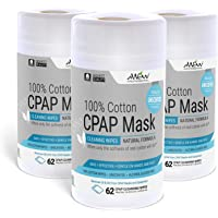 Toallitas limpiadoras de máscara CPAP de algodón sin