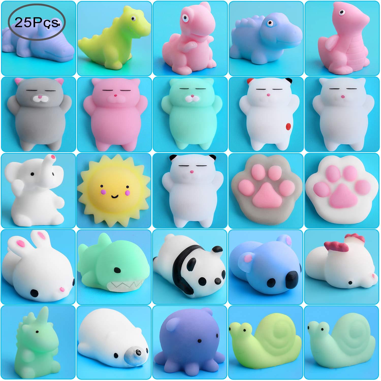 Mochi Stress Animals Toys, Outee 25 Piezas Mini Mochi ...