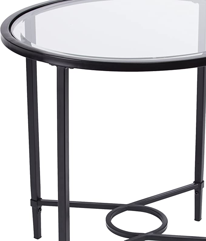 Amazon.com: Muebles Hotspot Oval de cristal, Vidrio Metal ...