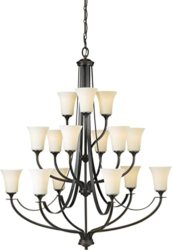 Sea Gull Lighting F2254 6 6 3ORB Barrington Fifteen Light Chandelier, Oil Rubbed Bronze