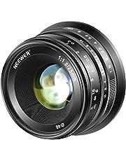 Neewer 25mm f/1,8 Objetivo Manual Principal Fijo Lente para Fujifilm APS-C Cámaras Digitales sin Espejo XPro2 XE3 XH2 X100T X100S XH1 XF2 XPro1, Todo Metal Construcción (Negro)