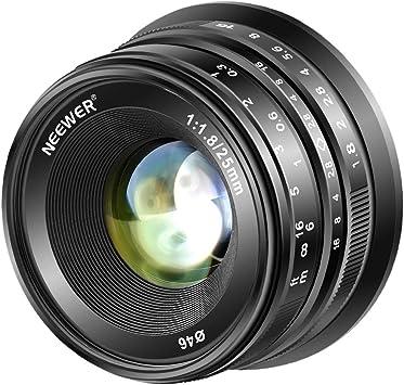 Black Goshyda 25mm F1.8 Multi-Layer Coating Pure Manual Mirrorless ...