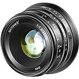Neewer 25mm f/1.8 Manual Focus Prime Fixed Lens for Fujifilm APS-C Digital Mirrorless Cameras XPro2 XE3 XH2 X100T X100S XH1 XF2 XPro1, All Metal Construction (Black)
