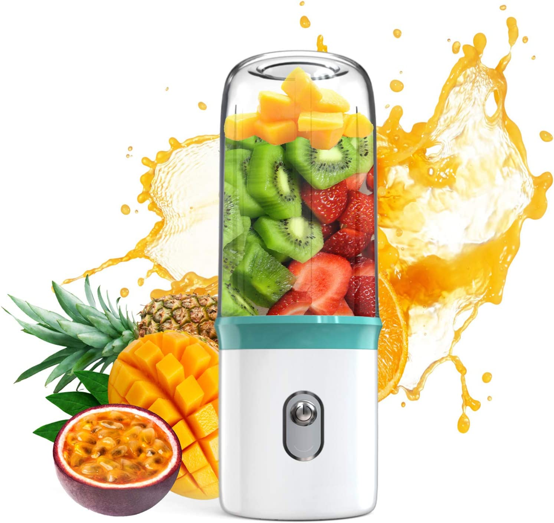 Portable Blender (Updated 2019 Version Hand Blender),JUICYME USB Personal Smoothie Blender For On-The-Go/Travel,Beauty Blender For Milkshake,Smoothie,Ice.Mini Bullet Blenders Processor Shake Mixer Maker For Home Kitchen(FDA, BPA Free)