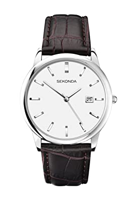 mens dial bill strap watch chronoscope w leather white watches max
