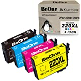 BeOne Remanufactured Ink Cartridge Replacement for Epson 220 XL 220XL T220XL Black, Cyan, Magenta, Yellow
