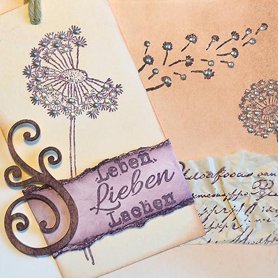 Silikon Stempel Pr/ägung Stempel Made in Germany Stempel Silikon DIY Stamp Viva Decor/®️ Clear-Stamps DIY Dekoration stanzen Stempel Pr/ägung Kondolenz