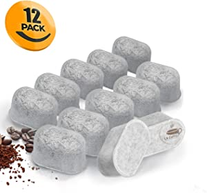 Replacement Charcoal Water Filters Compatible With KEURIG - Universal Fit (NOT CUISINART) for Keurig 1.0 & 2.0 Machines - Fits all Cuisinart Coffee Makers (12-Pack) (12 Pack)