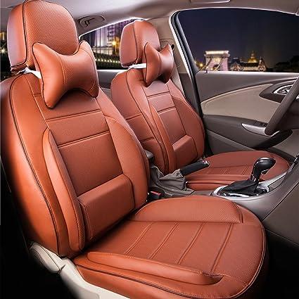 Amazon Com Autodecorun Perforated Leatherette Full Set Car Seat