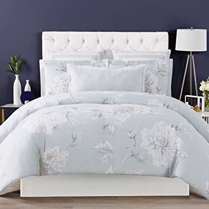 4ef8b417b5433 Image Unavailable. Image not available for. Color  Christian Siriano Stem Floral  Full Queen 3 Piece Comforter Set