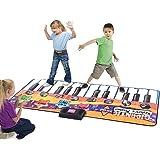 Kinder Klaviermatte Musikmatte Spielteppich Spielmatte Musik mit 8 Instrumenten 180x74cm