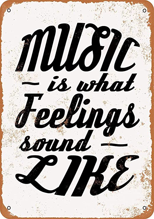 Music is What Feelings Sound Like Póster de Pared Metal ...