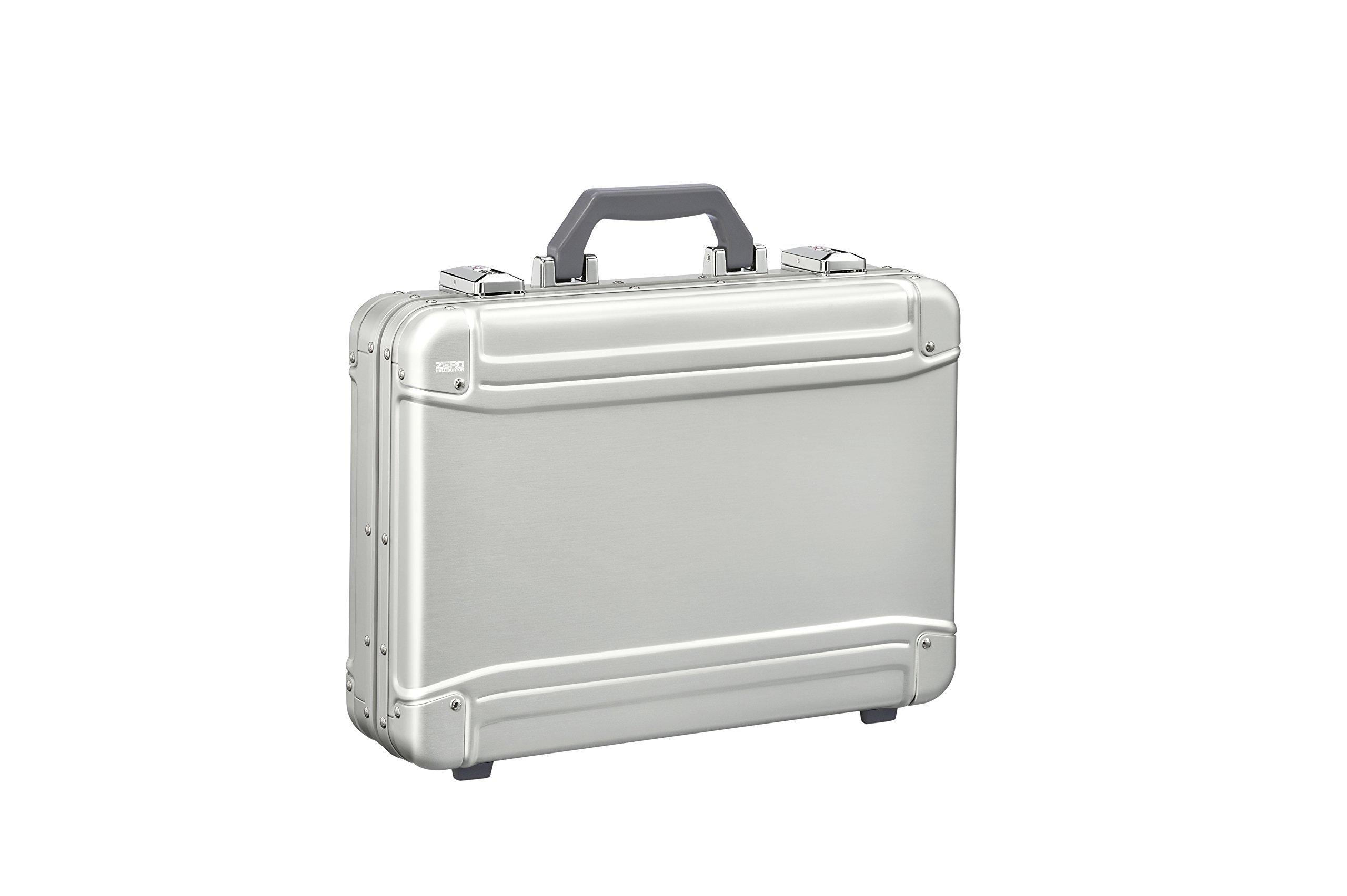 Zero Halliburton Geo Aluminum 3.0 Large Attaché Briefcase, Silver, One Size