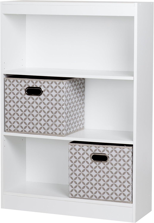 South Shore Axess 3 Shelf Bookcase in Pure Black