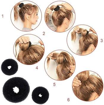 Cintas para el pelo Conjunto de 12 piezas for peinar el cabello ...