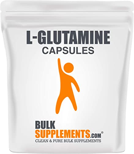 BulkSupplements.com L-Glutamine 300 Capsules – 150 Servings