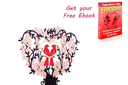 amazon com love bird pop up card love popup cards for her him