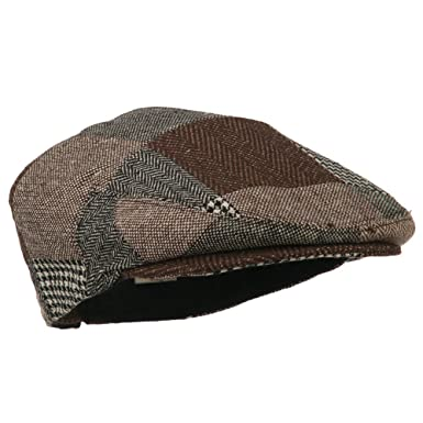 0836795b2 Jeanne Simmons Men's Wool Blend Patchwork Ivy Cap - Brown Black