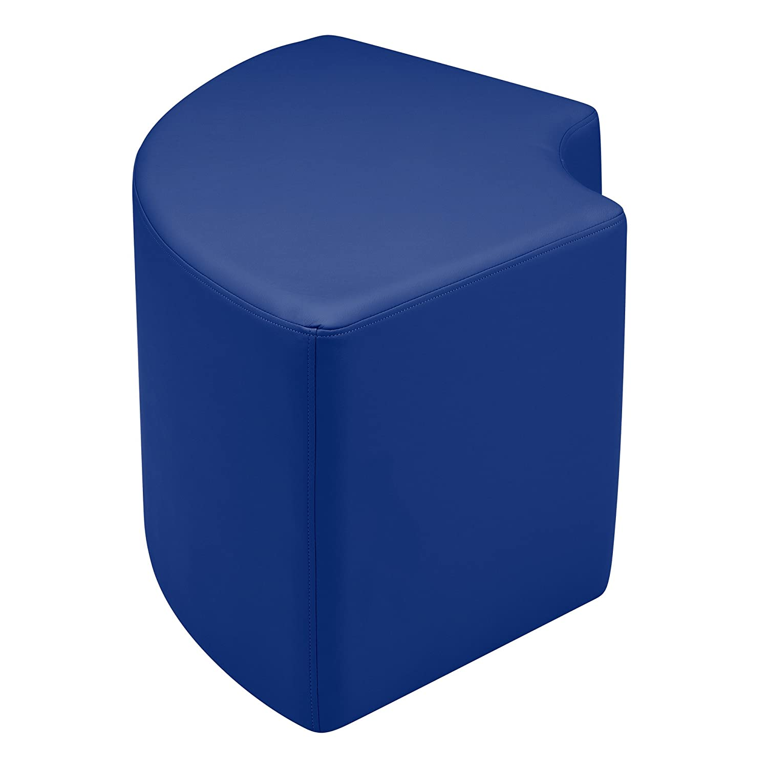 "Sprogs Vinyl Soft Seating Curved Stool, 18"" H, Blue, SPG-1012BL-A"