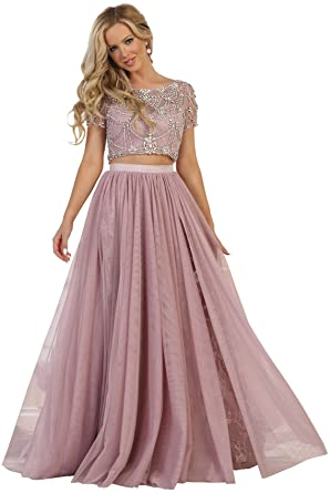 Formal Dress Shops Inc Royal Queen Rq7576 Two Piece Prom Dance Dress