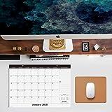 Nekmit 2020 Monthly Desk Pad Calendar, January 2020 - December 2020 Wall Calendar, Ruled Blocks, 16-3/4 x 11-4/5 Inches, Black