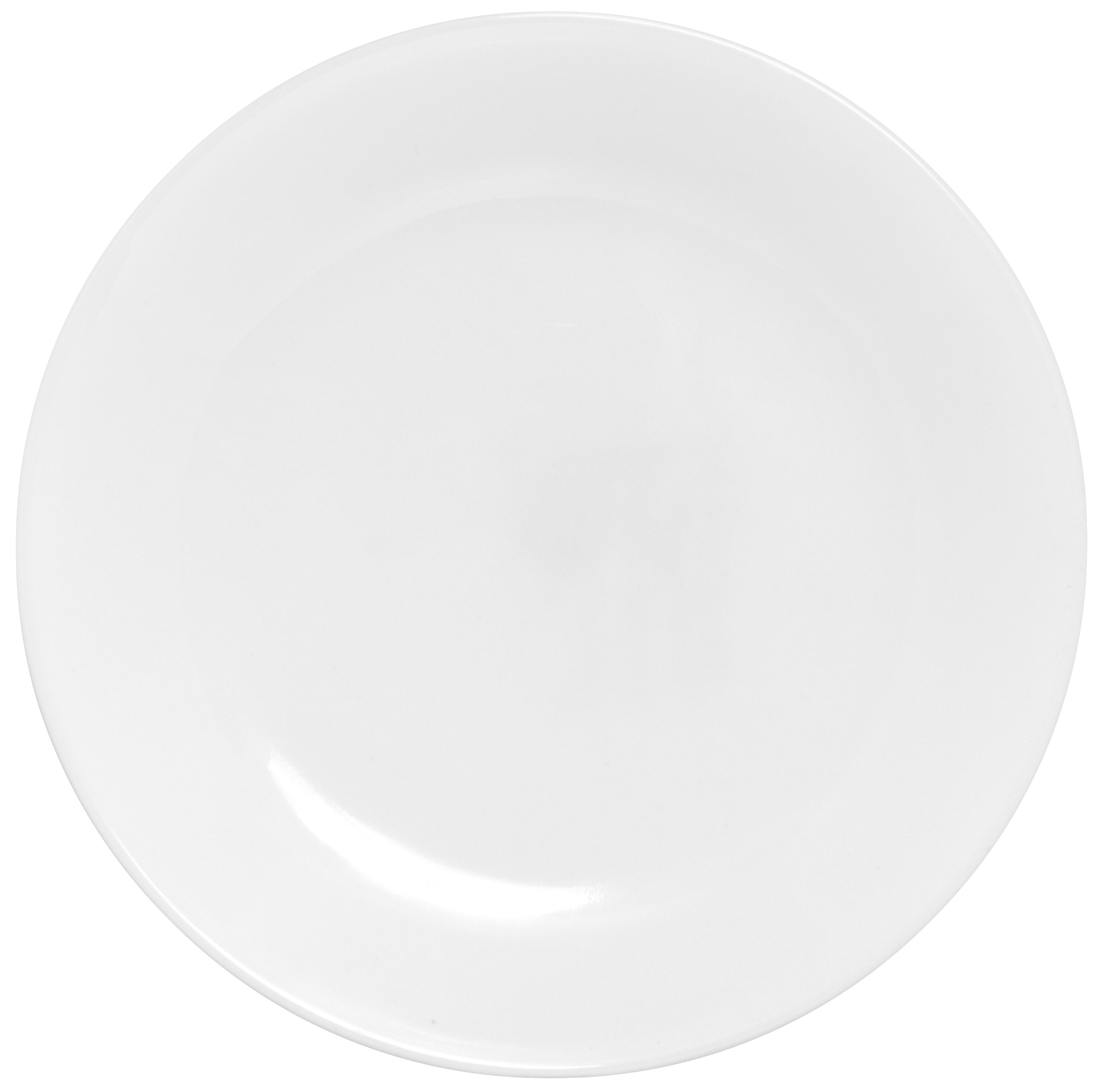 Corelle Winter Frost White Lunch Plates Set (8-1/2-Inch, 6-Piece, White) by Corelle