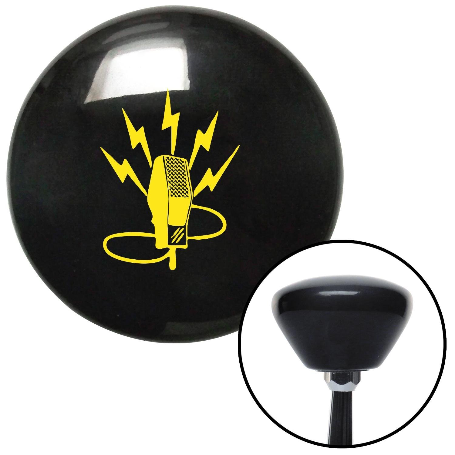 Yellow Microphone Energy American Shifter 147140 Black Retro Shift Knob with M16 x 1.5 Insert
