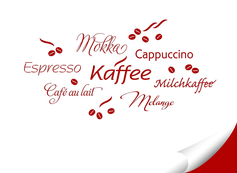 Grandora Wandtattoo Kaffee Coffee Kaffeetasse I rot I Küche ...