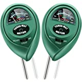 KINCREA 2 Pcs 3 in 1 Soil Tester Moisture Meter, Light and PH Acidity Tester for Plant Care, Soil Hygrometer Water…