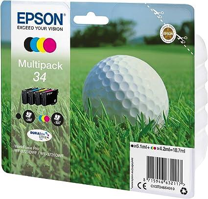 TINTA ORIGINA EPSON T34 PACK COLOR Y NEGRO: Epson: Amazon.es: Oficina y papelería