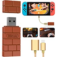 XAMMBOX 8Bitdo Wireless Bluetooth Controller Adapter for Nintendo Switch, Windows, Mac and Raspberry Pi, with OTG Cable