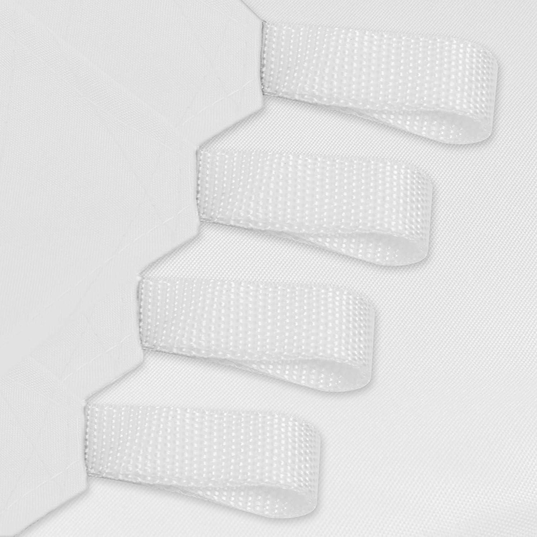 tissu en poly/éthyl/ène r/ésistant et imperm/éable de couleur blanche 5x5 m bianco protection contre les rayons UV voile drap pour ext/érieur Eglemtek Toile pare-soleil carr/ée
