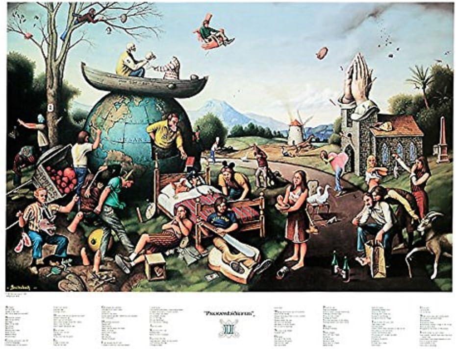 Ultimate Proverbidioms T E Breitenbach  Fantasy Werid Odd Art Print Poster