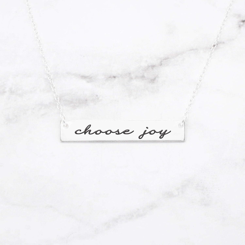 Choose Joy Necklace in Sterling Silver