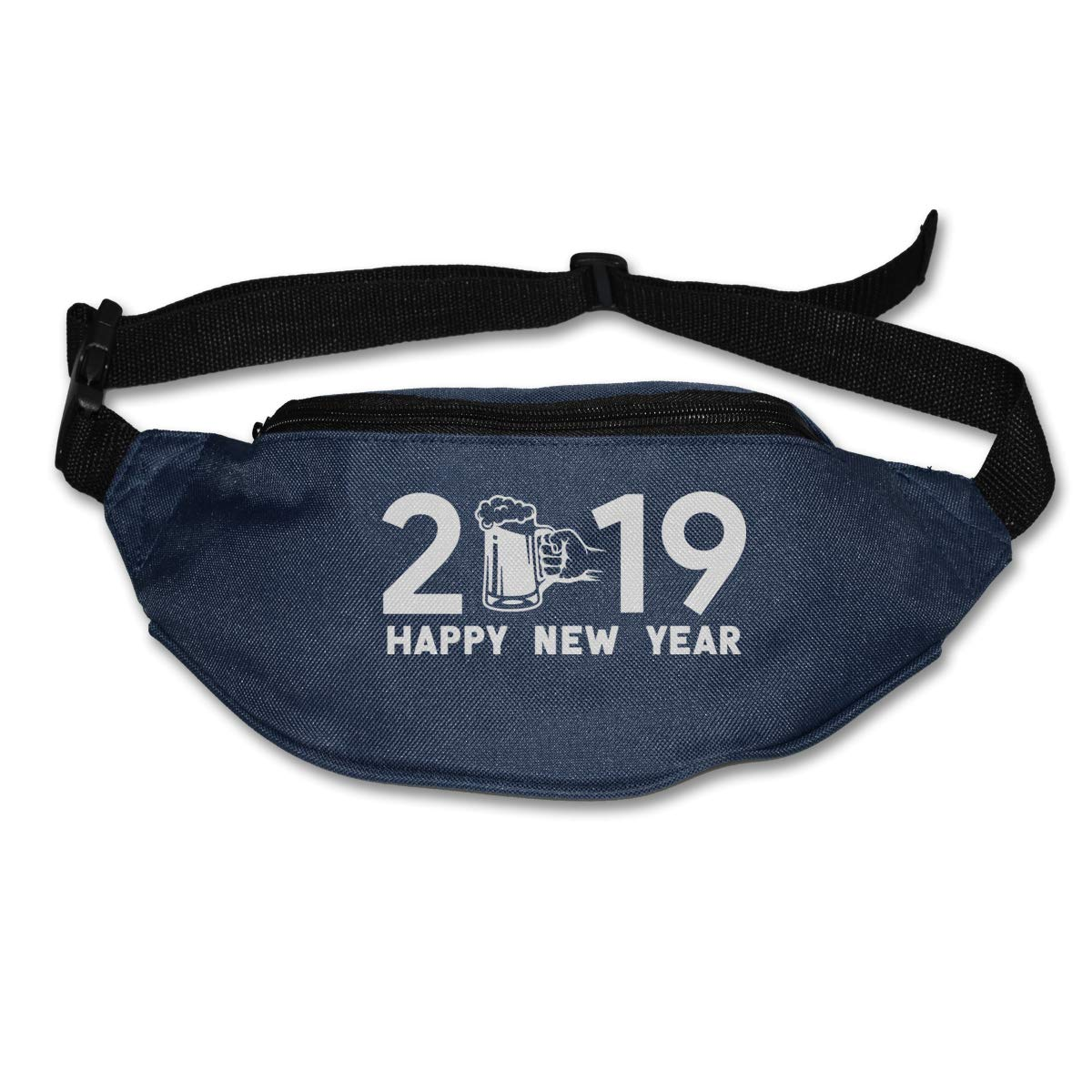 Happy New Years 2019 Sport Waist Pack Fanny Pack Adjustable For Hike