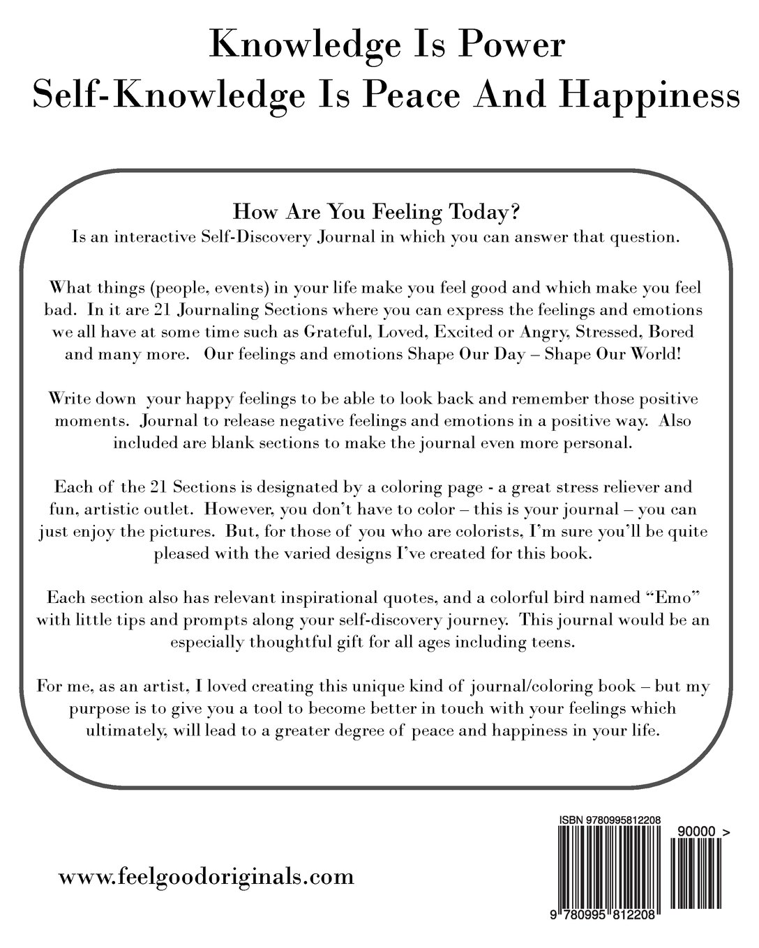 How Are You Feeling Today?: A Unique Journal/Coloring Book To ...