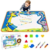Toyk AquaDoodle Drawing Mat - Kids Painting Writing Doodle Board Toy - Color Aqua Magic Mat 3 Magic Pens Educational Age Toys for 1 2 3 4 5 6 7 8 9 10 11 12 Year Old Girls Boys Toddler Gift