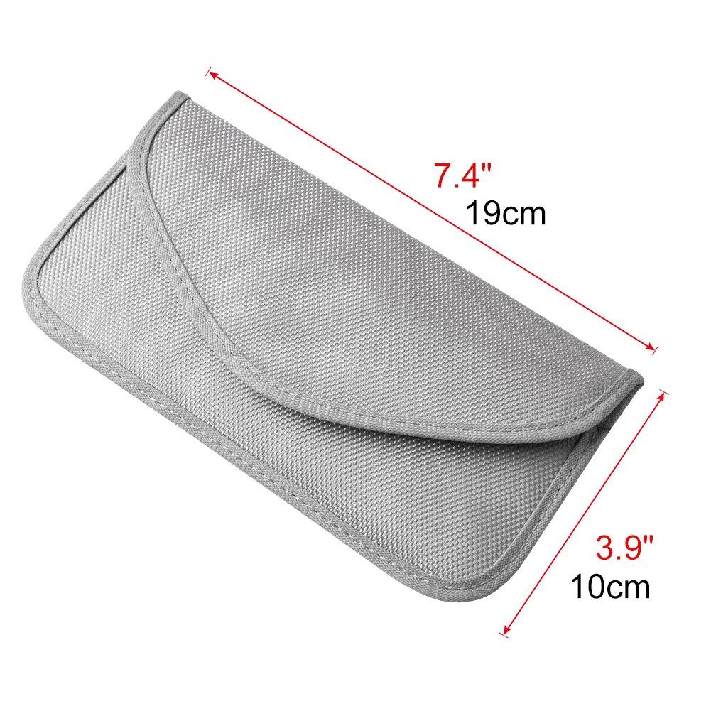 Caja Faraday Funda para Llave Funda para Llave de Coche Bloques de se/ñales Bolsa para Llaves de Coche Faraday Carcasa para Bloqueo de se/ñal RFID Carcasa sin Llave