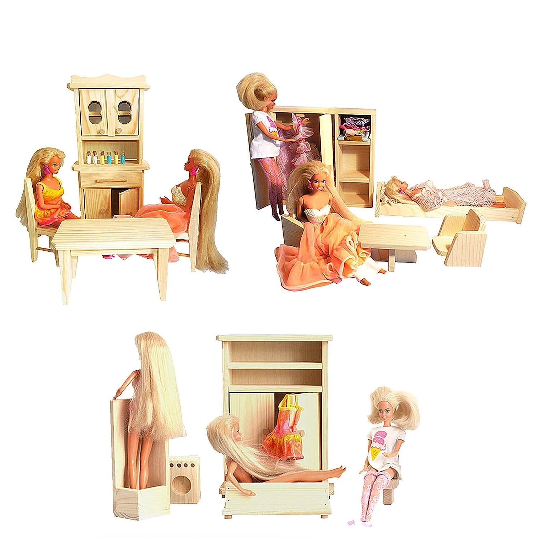 Barbie PuppenhausMöbel Holz