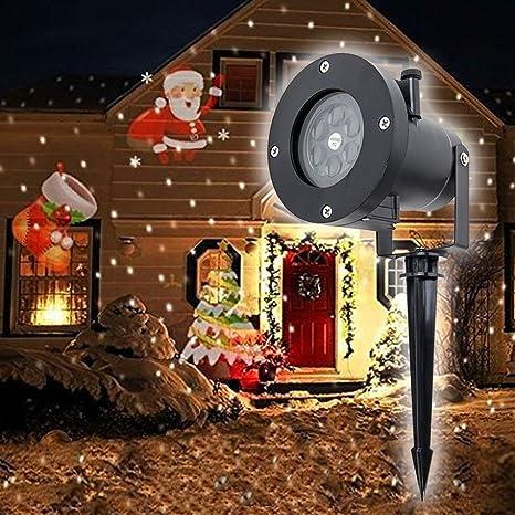Decoración de Navidad LED Efecto De Luz De Proyección copos de ...
