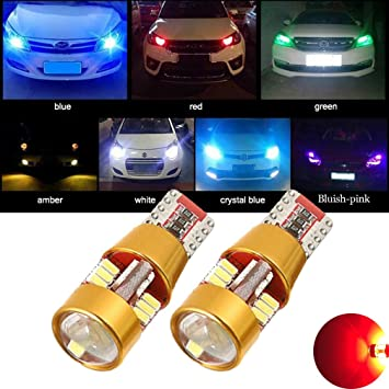 2pcs Red Car Parking Lights T10 168 152 194 2825 2821 W5W 30 SMD 3030 LED Bulbs