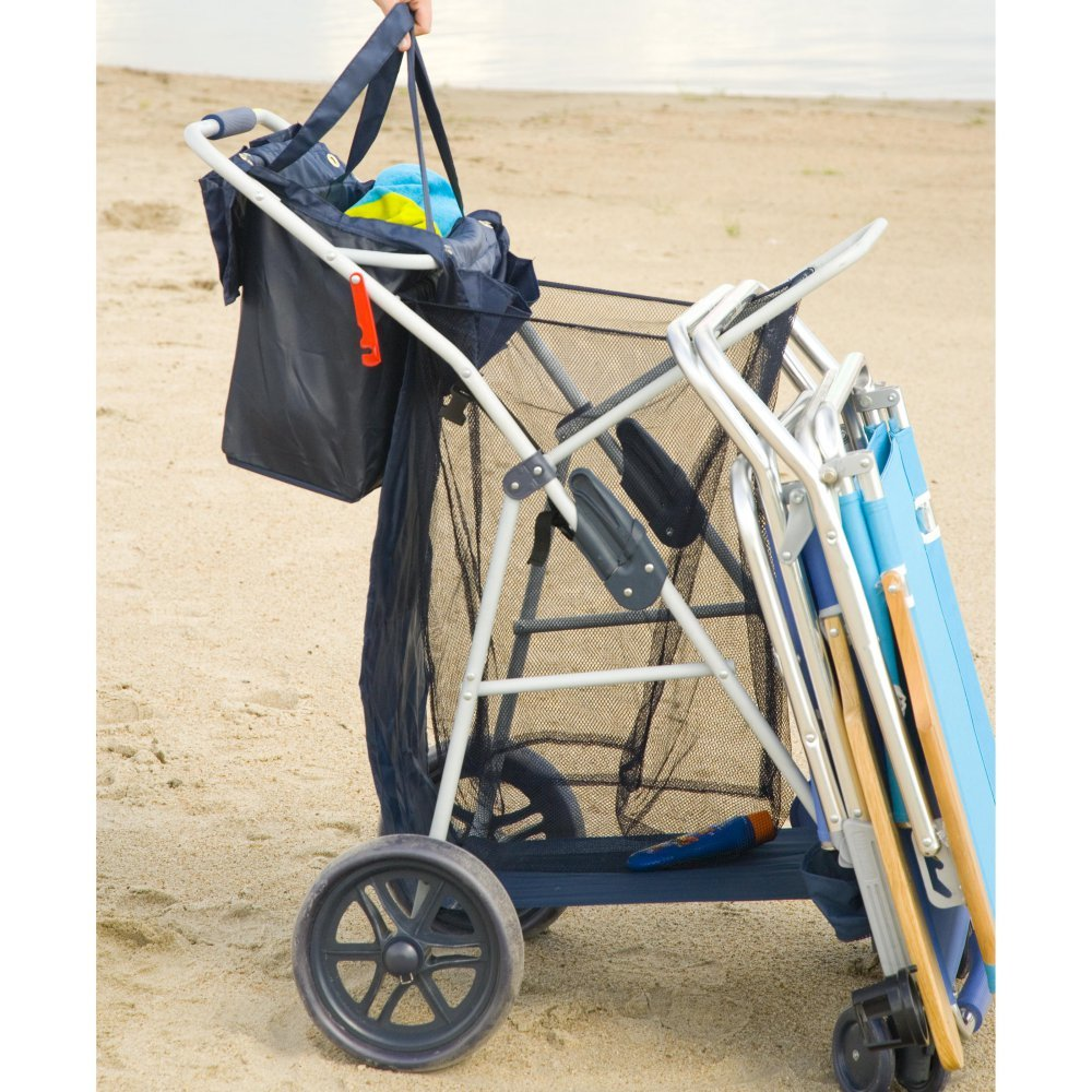 Most Popular Highest Rated Best Selling Beach Lake Wheeler Tote Deluxe Sturdy Cart Big Wheels by Rio (Image #4)