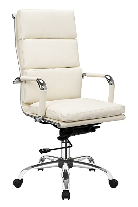 vivo premium quality cream leather office manager gas lift chair