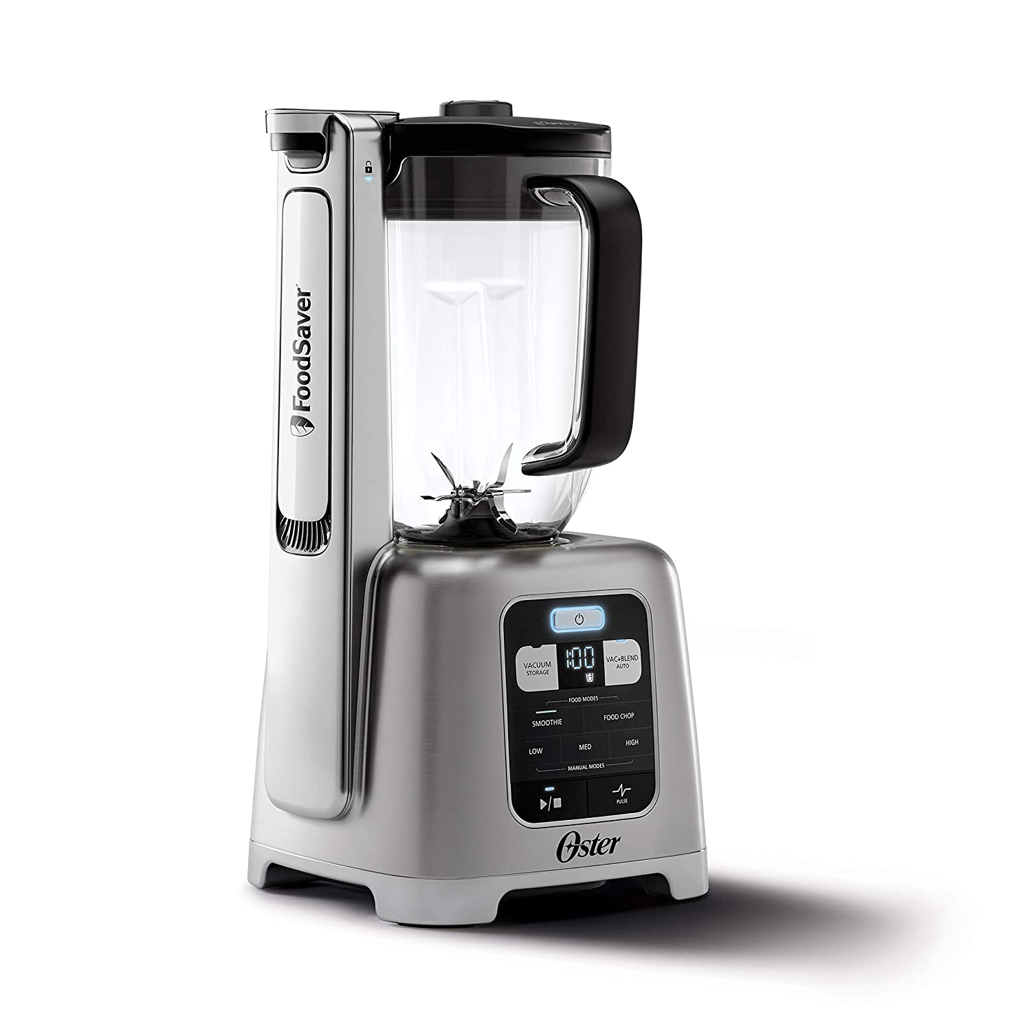 Oster BLSTAB-CB0-000 Blender with Vacuum Technology, Brushed Nickel