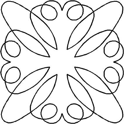 5 Quilting Creations Retro Block 1 Continuous Line Quilting Stencil