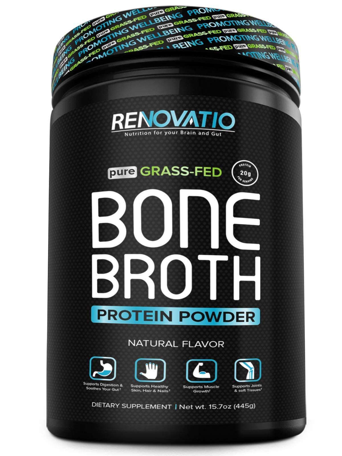 RENOVATIO Nutrition Bone Broth Protein Concentrate Powder