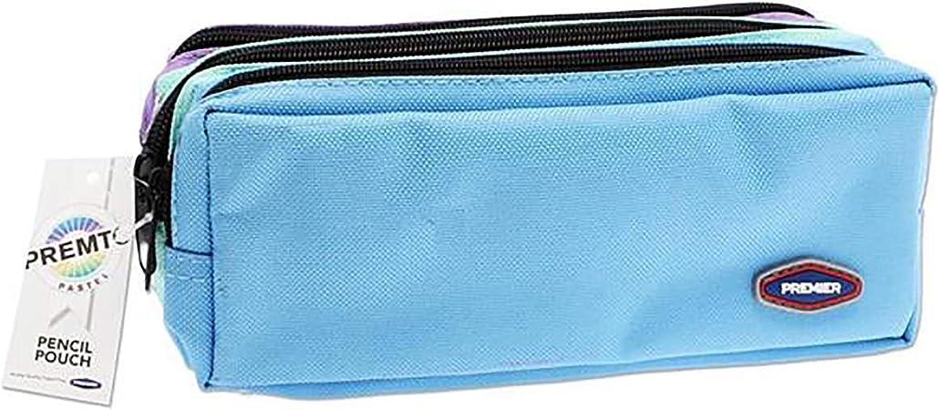 Premier Stationery - Estuche con 3 bolsillos y cremallera, 3 colores pastel: Amazon.es: Hogar