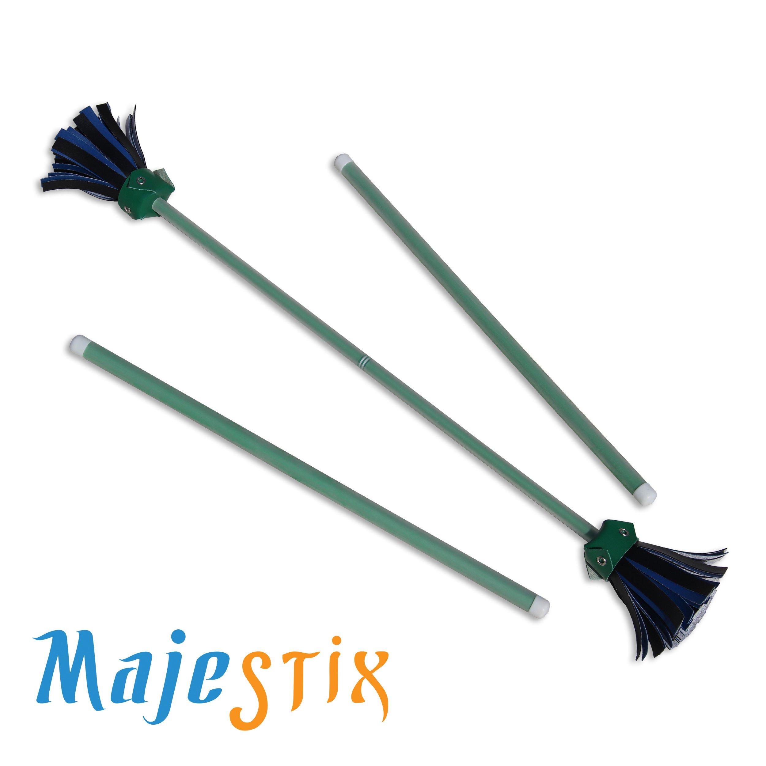 Green Majestix Juggling Sticks Devil Sticks by Jolly Lama! (Image #2)